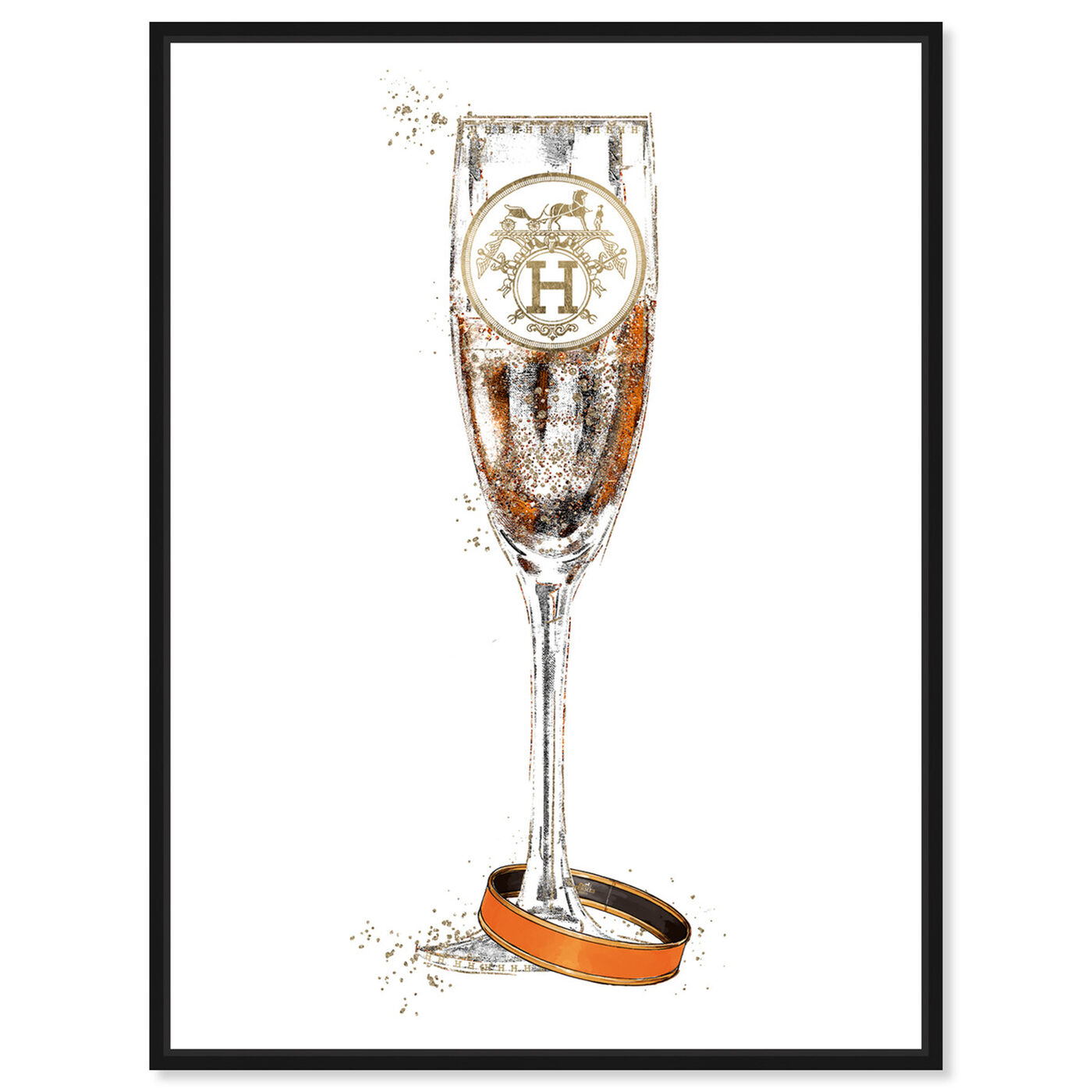 Front view of Faubourg Bubbly Champagne featuring fashion and glam and jewelry art.