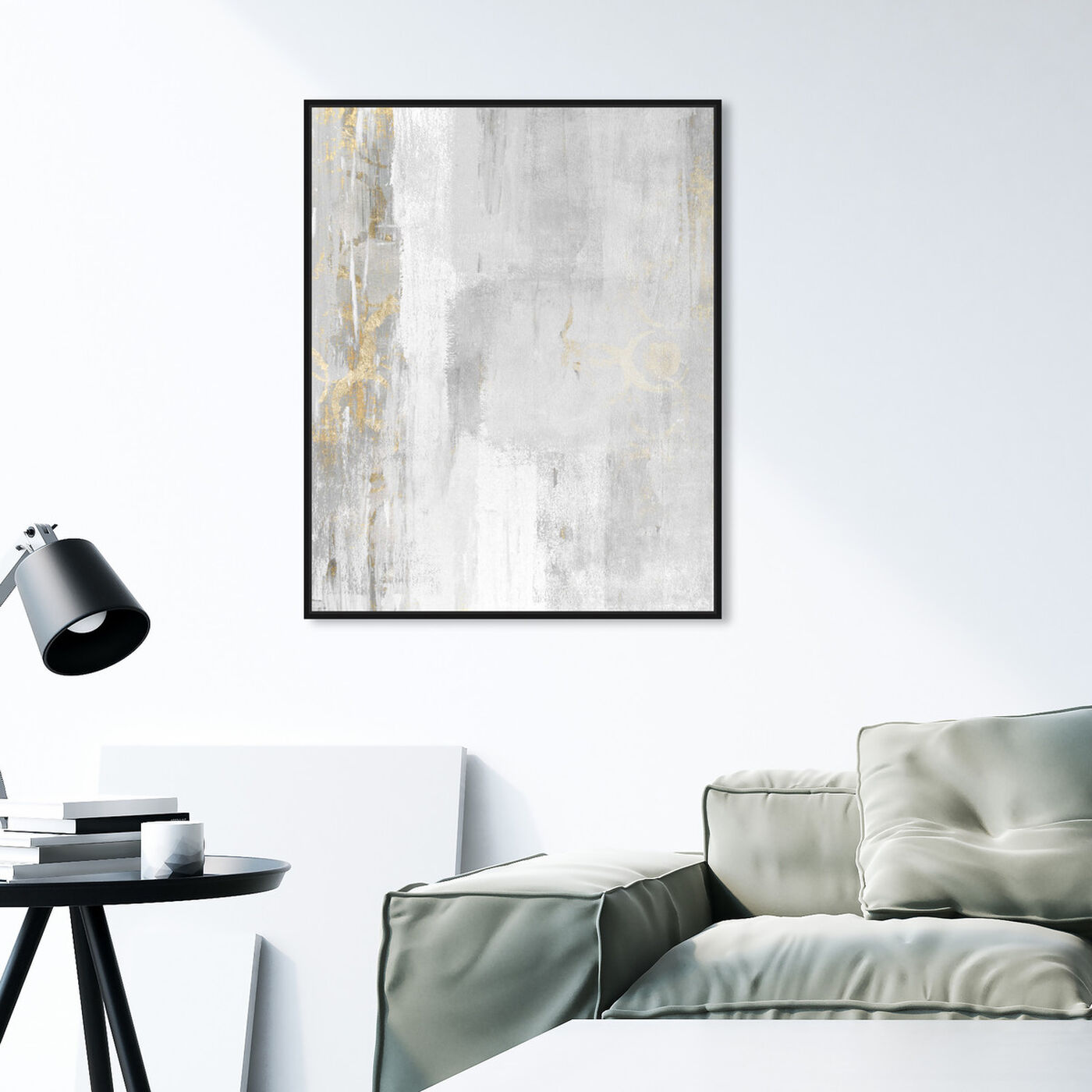 Hanging view of Abstract Elegance featuring abstract and paint art.