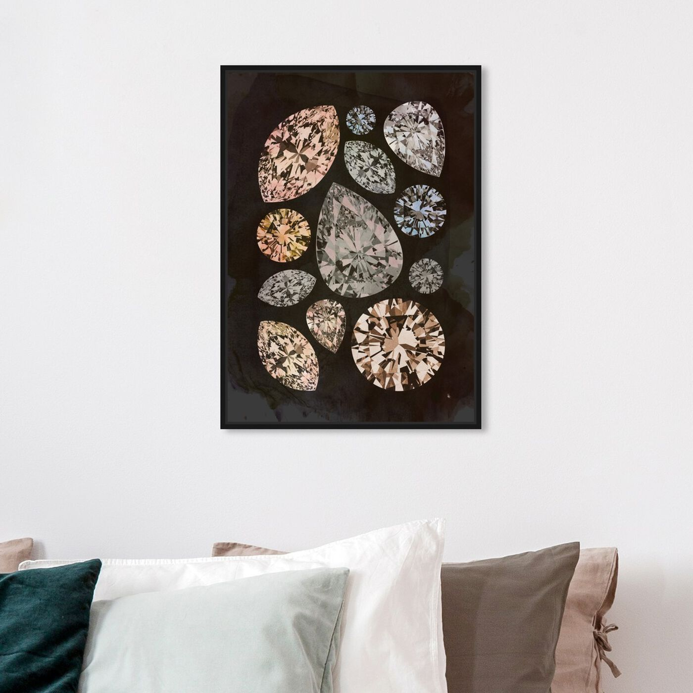 Hanging view of Autumn Stones featuring abstract and crystals art.