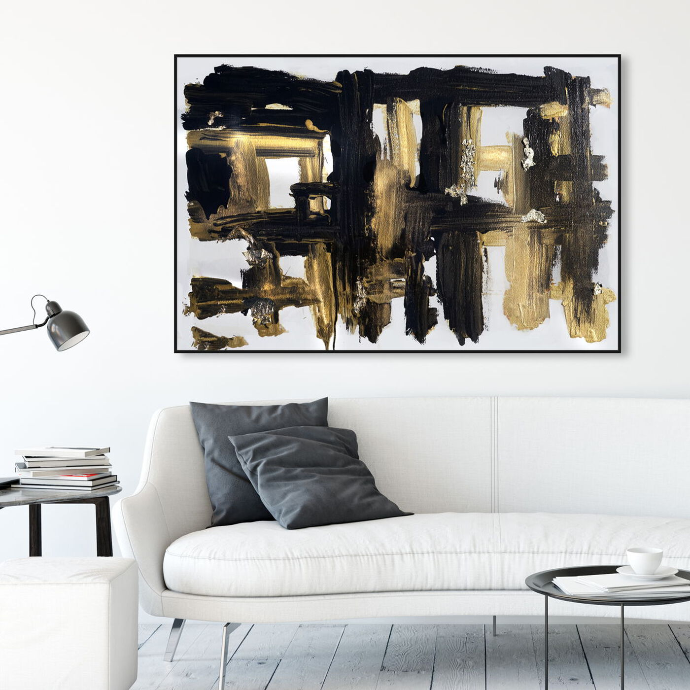 Hanging view of Isolde and Casata featuring abstract and paint art.