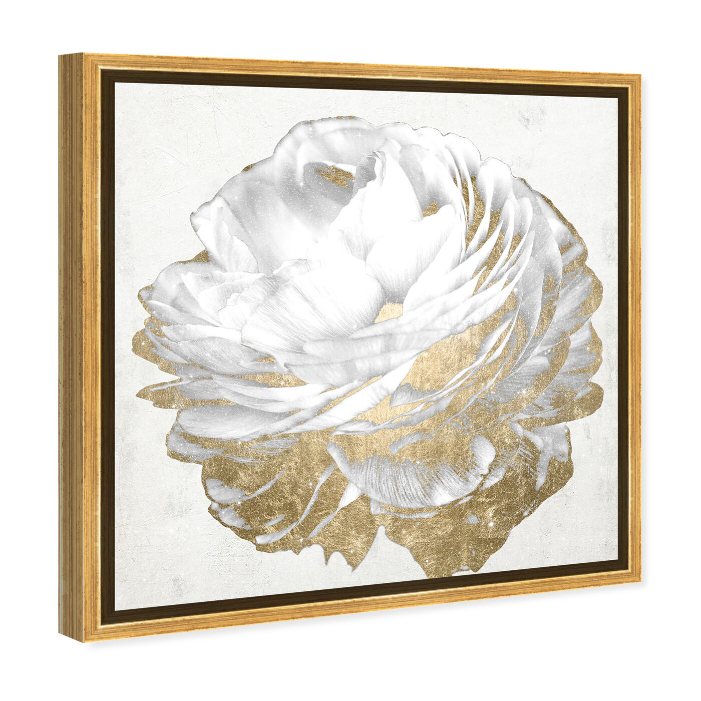 21250 Gold and Light Floral White