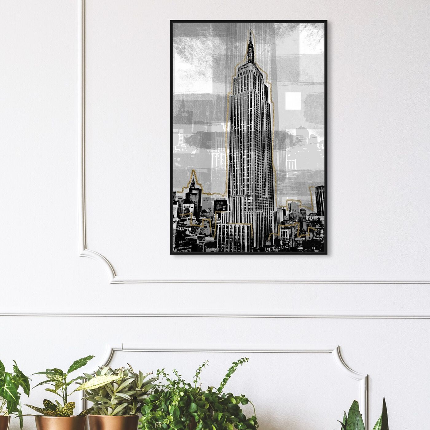 Hanging view of Golden Empire State featuring architecture and buildings and united states buildings art.