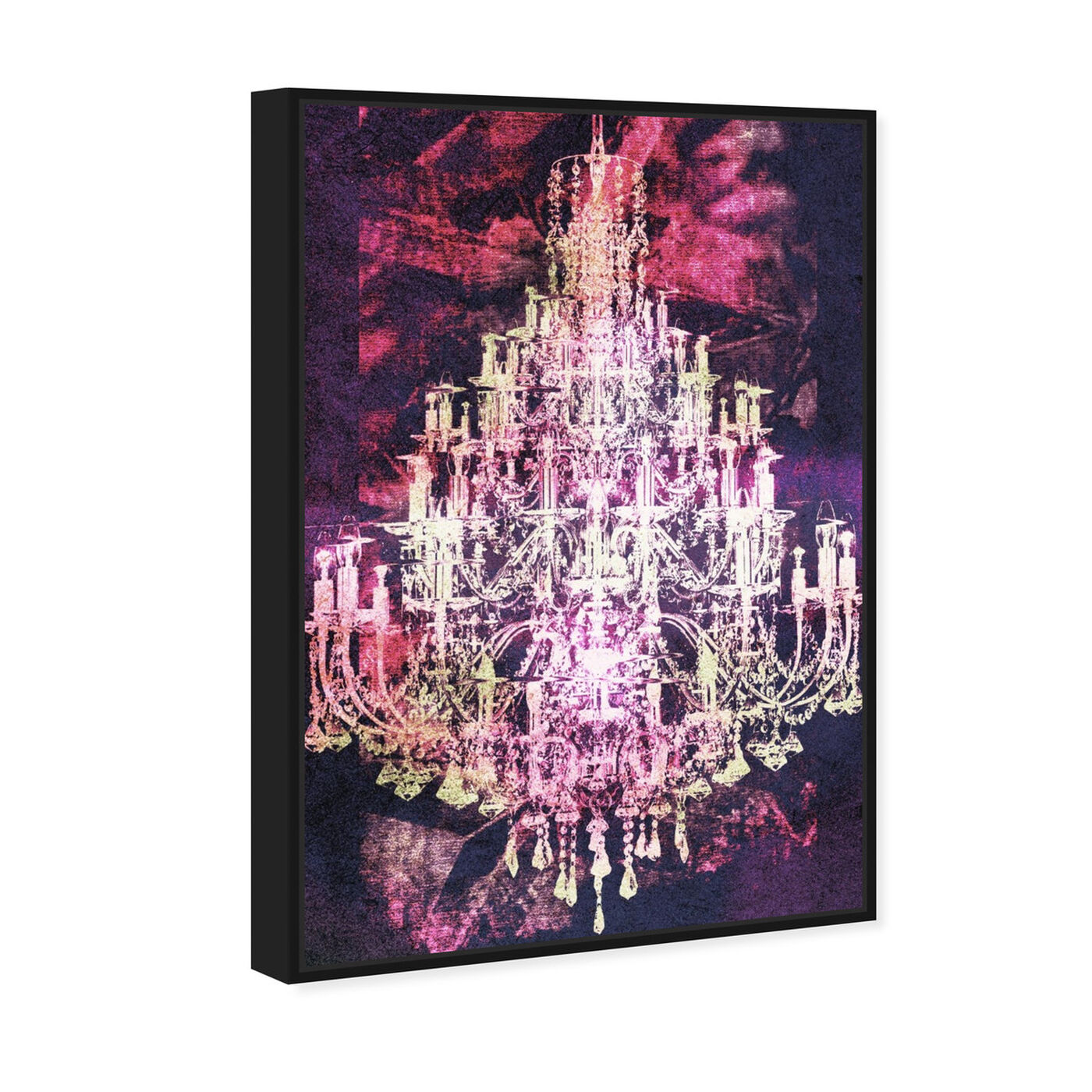 Angled view of Montecarlo Crystal Pink featuring fashion and glam and chandeliers art.