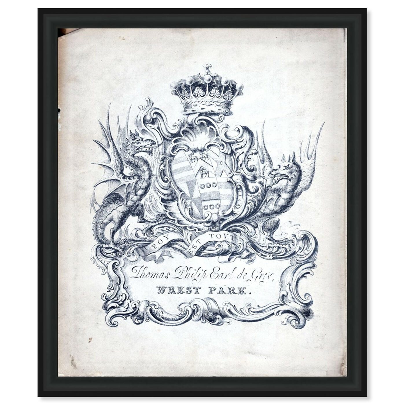 Front view of Armorial Engravings II featuring classic and figurative and french décor art.