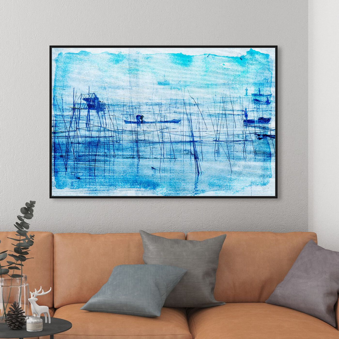 Hanging view of Rao River featuring abstract and paint art.