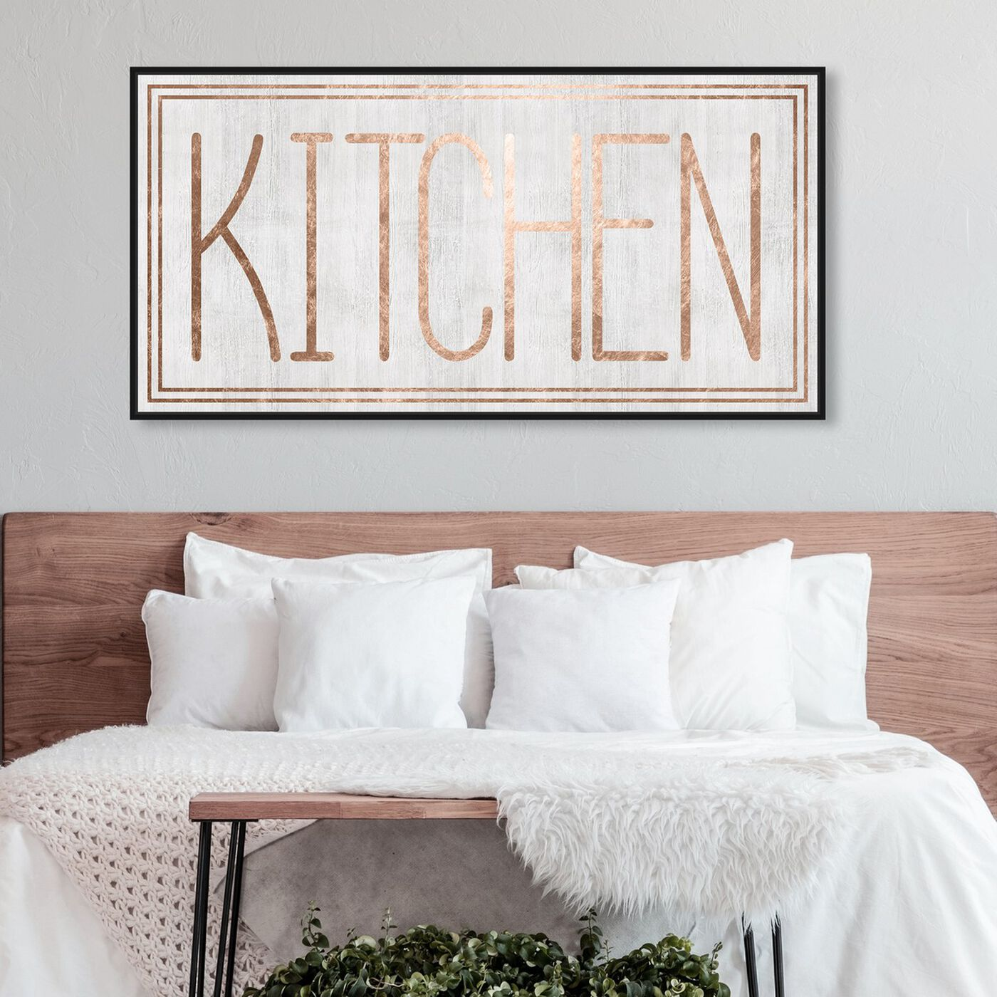 Hanging view of Kitchen featuring food and cuisine and kitchen art.