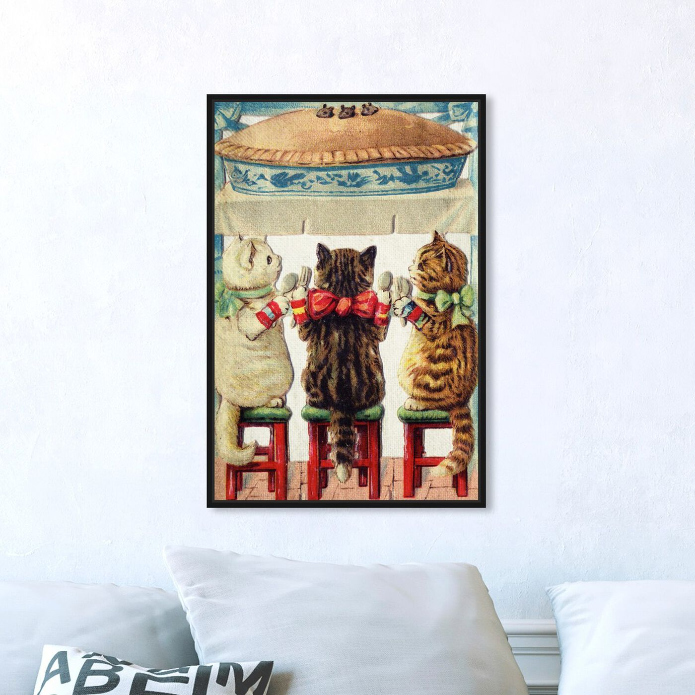 Hanging view of Pie Time featuring animals and cats and kitties art.