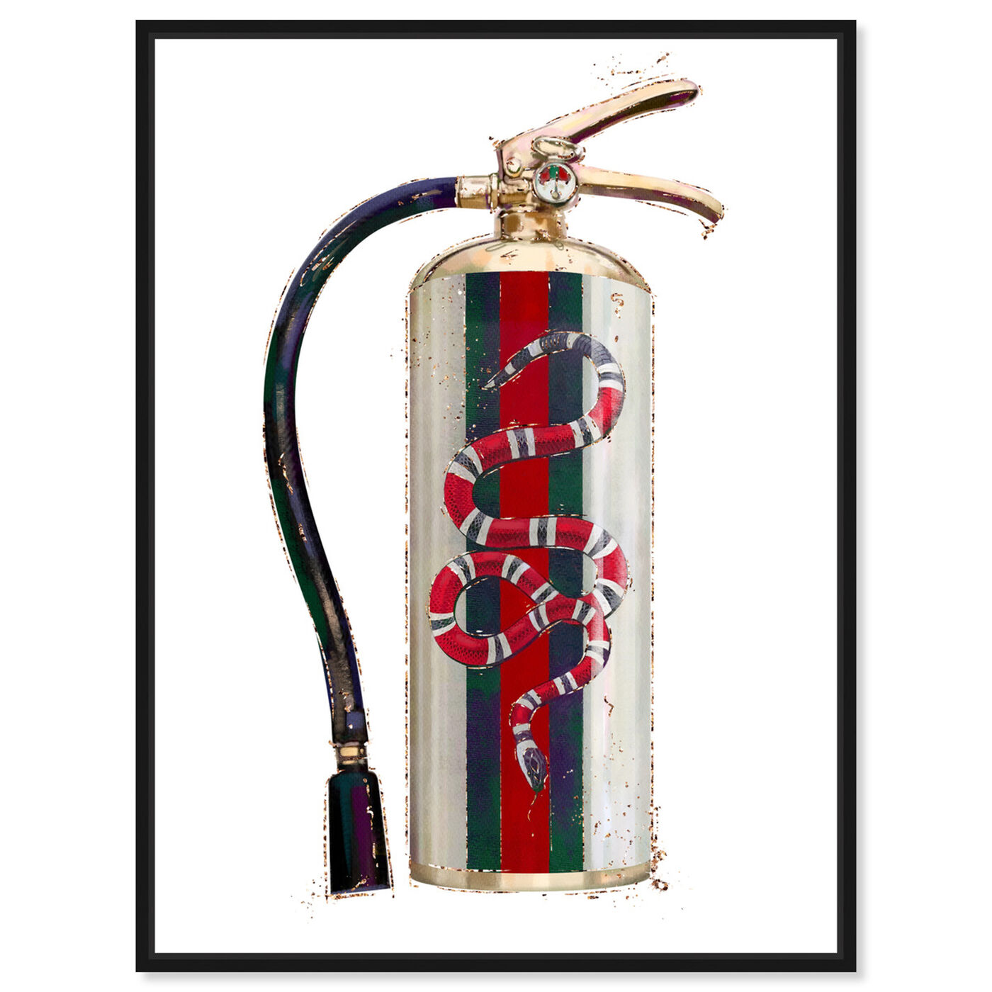 Front view of Italian Extinguisher featuring animals and zoo and wild animals art.