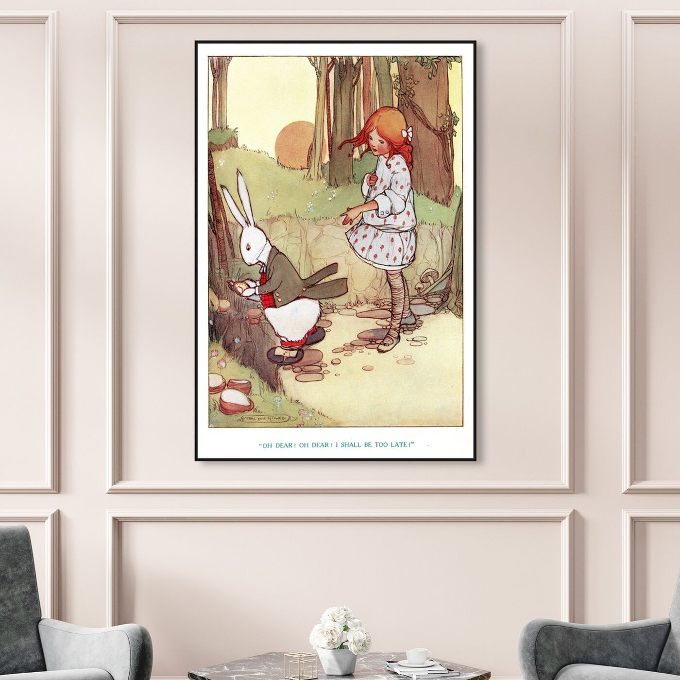 Hanging view of Oh Dear! featuring animals and farm animals art.
