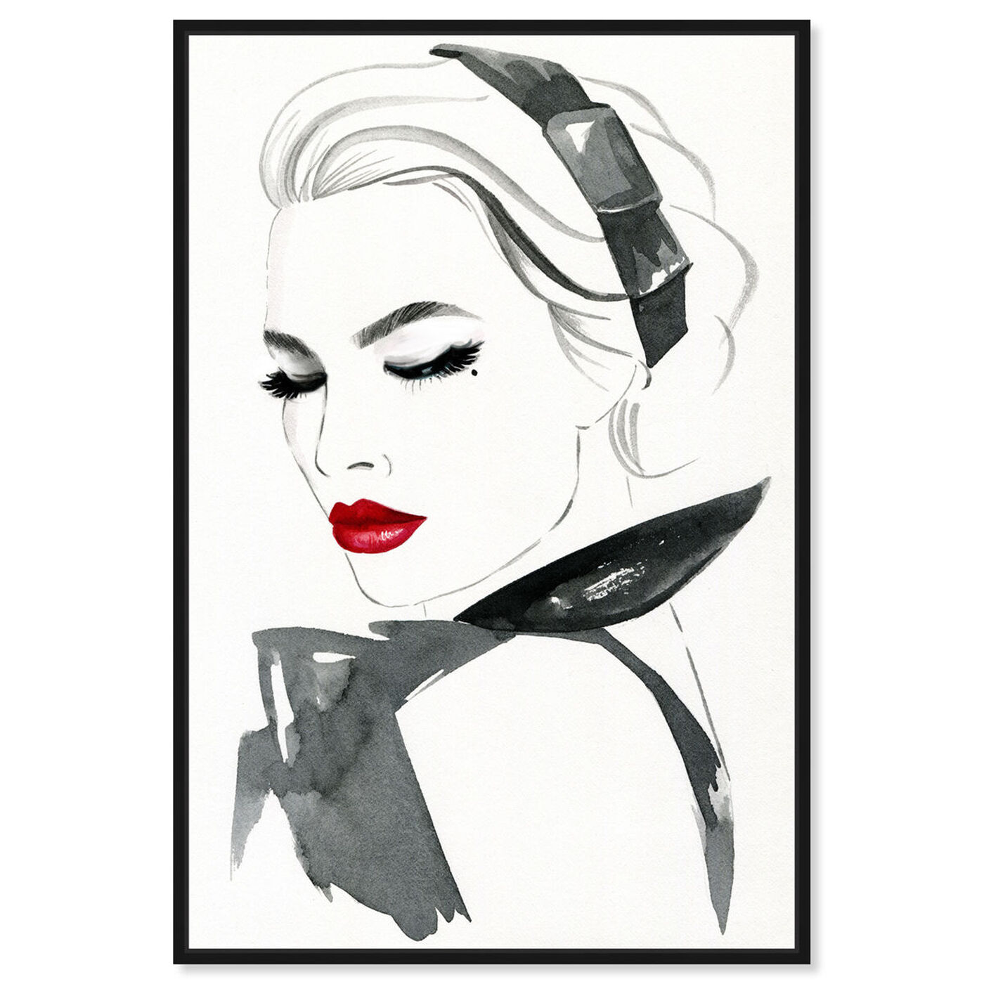Front view of Modest Modern Lady featuring fashion and glam and portraits art.