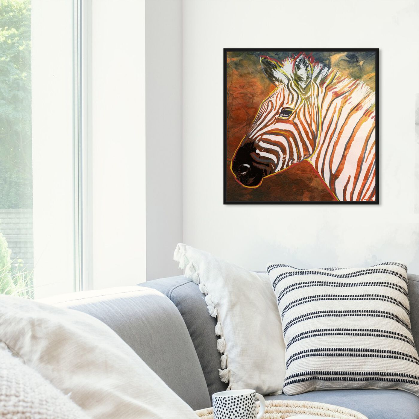 Hanging view of Quagga Zebra featuring animals and zoo and wild animals art.