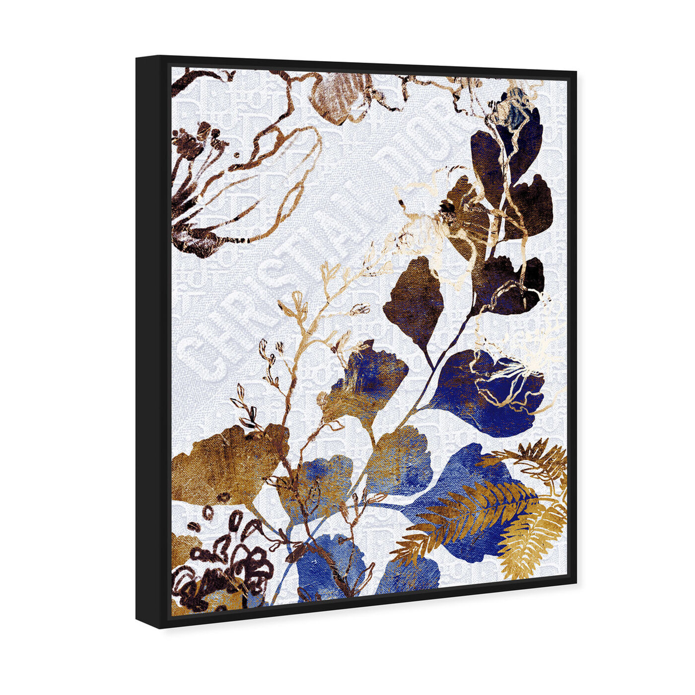 Angled view of Indigo Blue Dreams featuring floral and botanical and botanicals art.