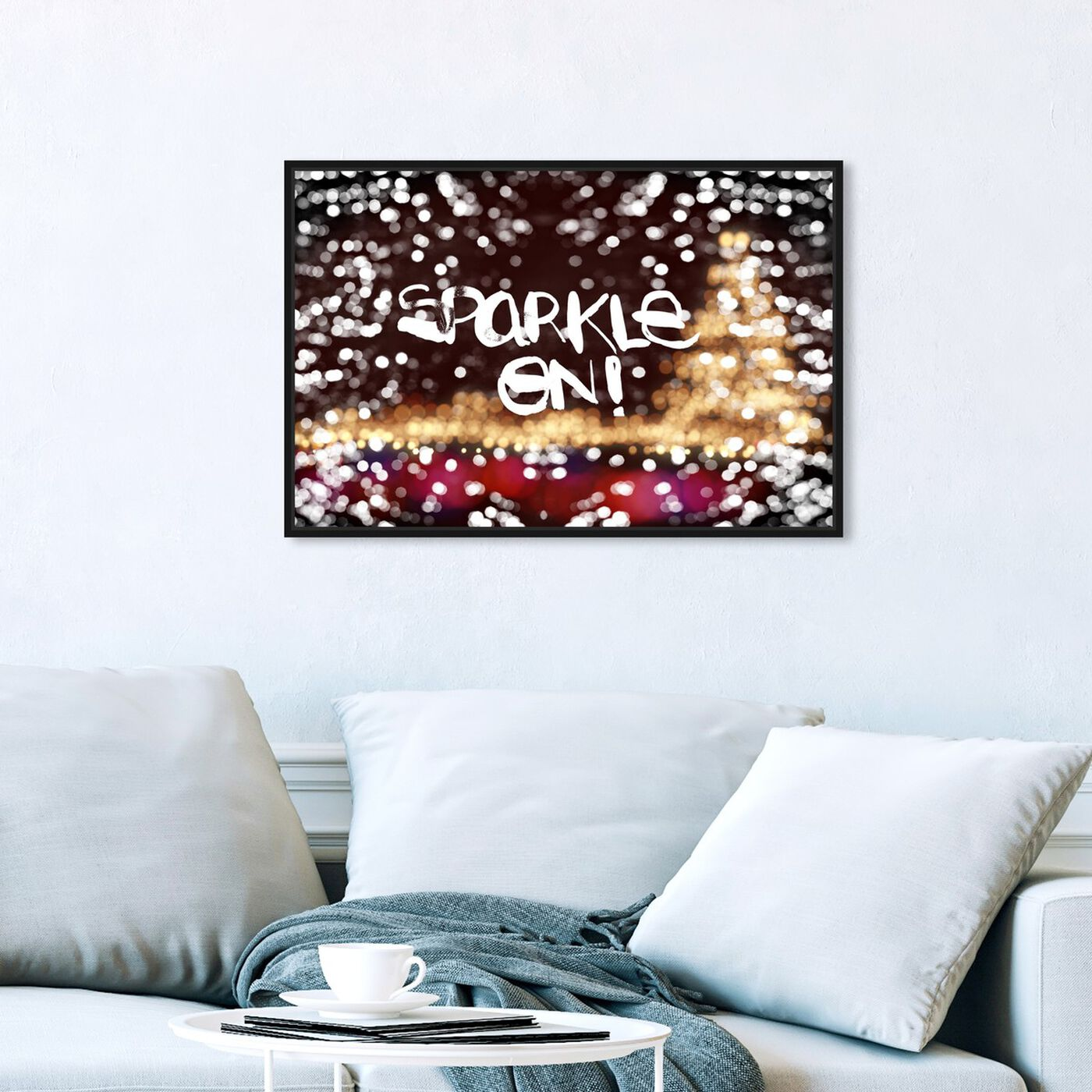 Hanging view of Sparkle On! featuring holiday and seasonal and holidays art.