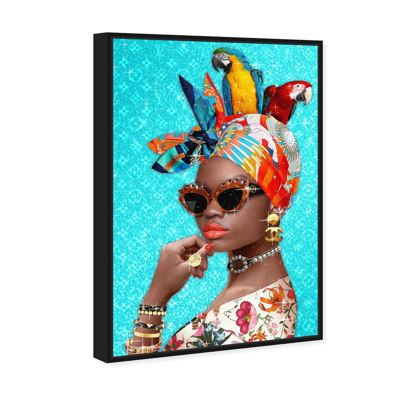 Angled view of I see you featuring fashion and glam and portraits art.