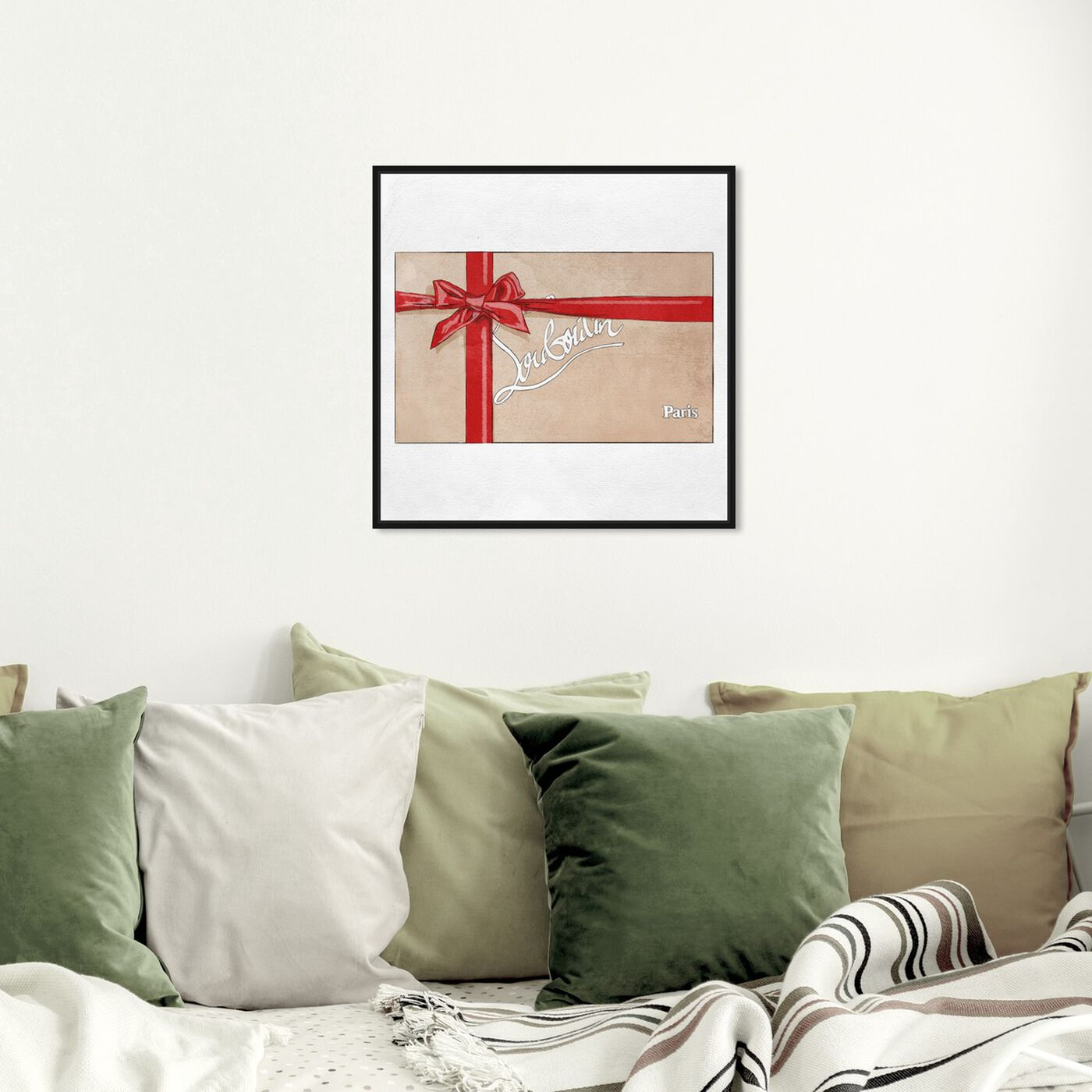 Hanging view of Perfect Red Gift II featuring fashion and glam and fashion art.
