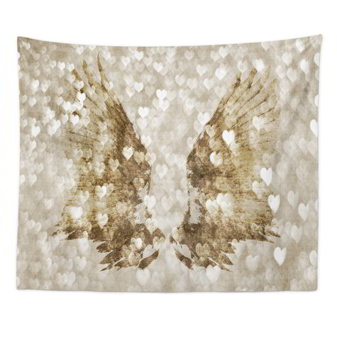 My Gold Heart Wings Tapestry Art