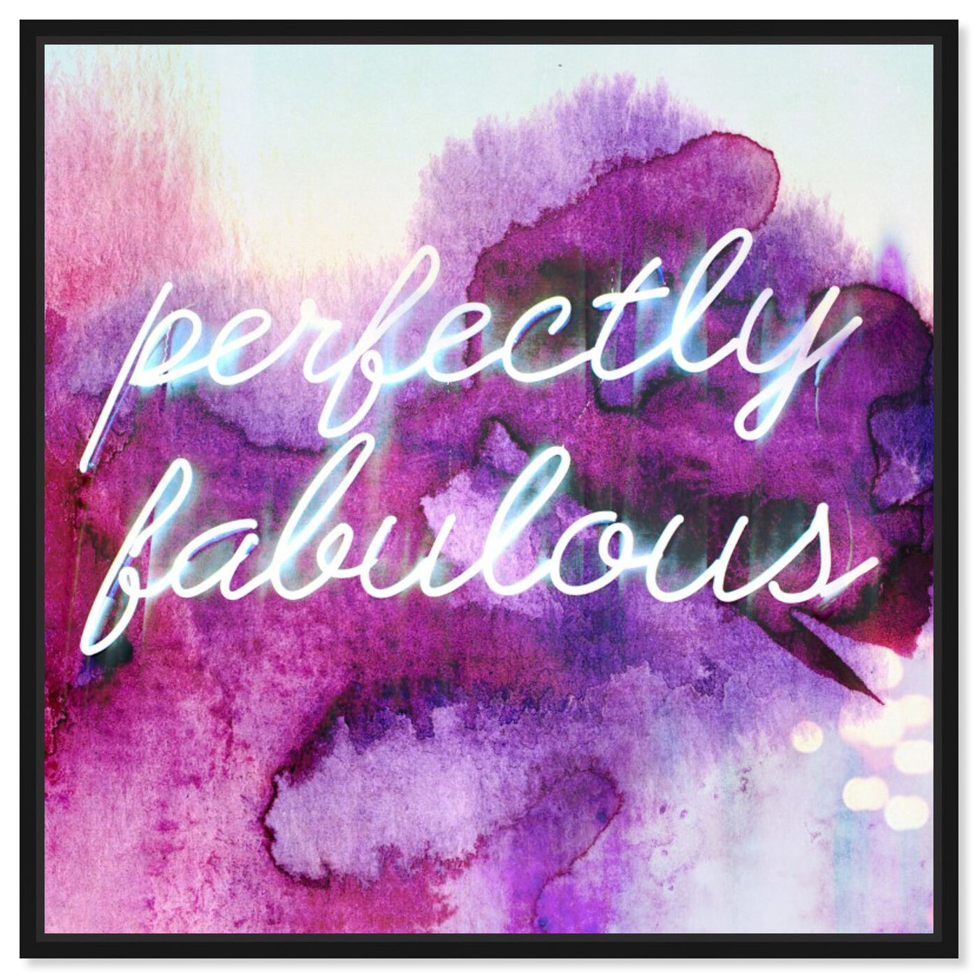 Front view of Perfectly Fabulous featuring typography and quotes and beauty quotes and sayings art.