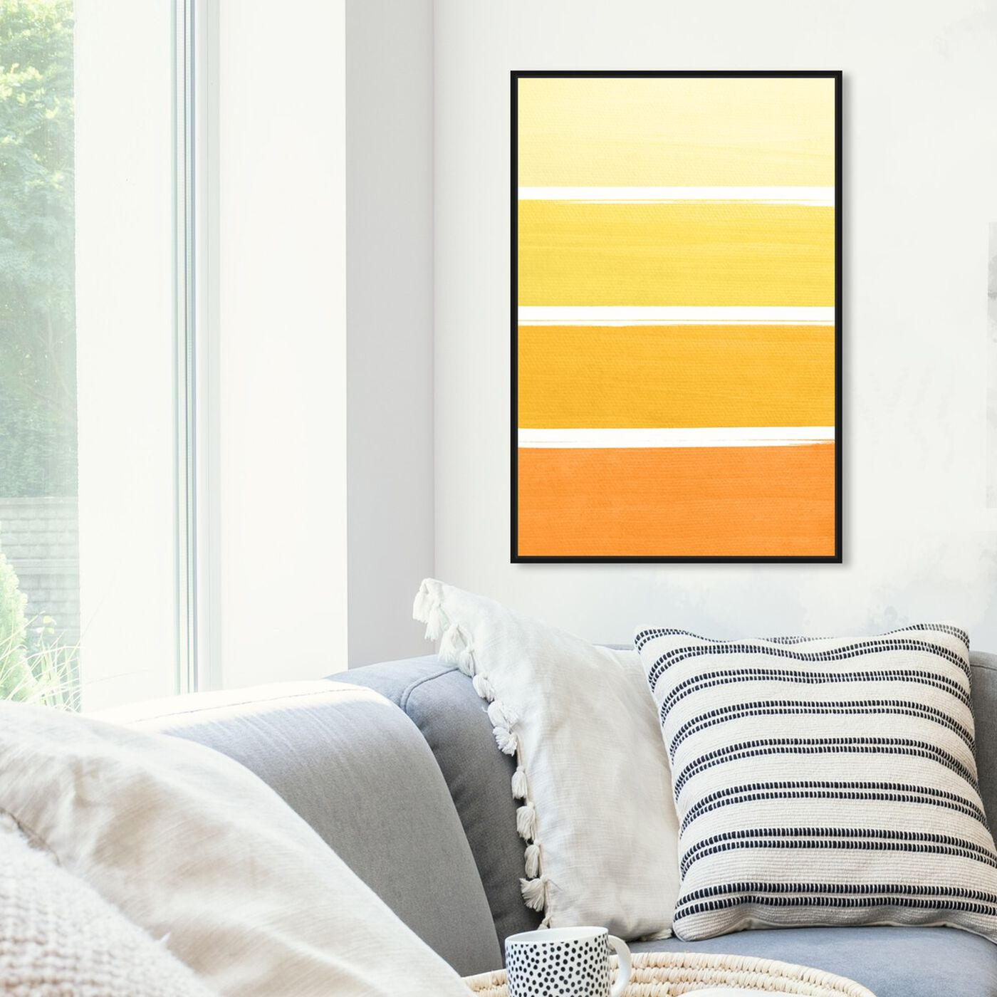 Hanging view of The Right Shade of Yellow featuring abstract and paint art.