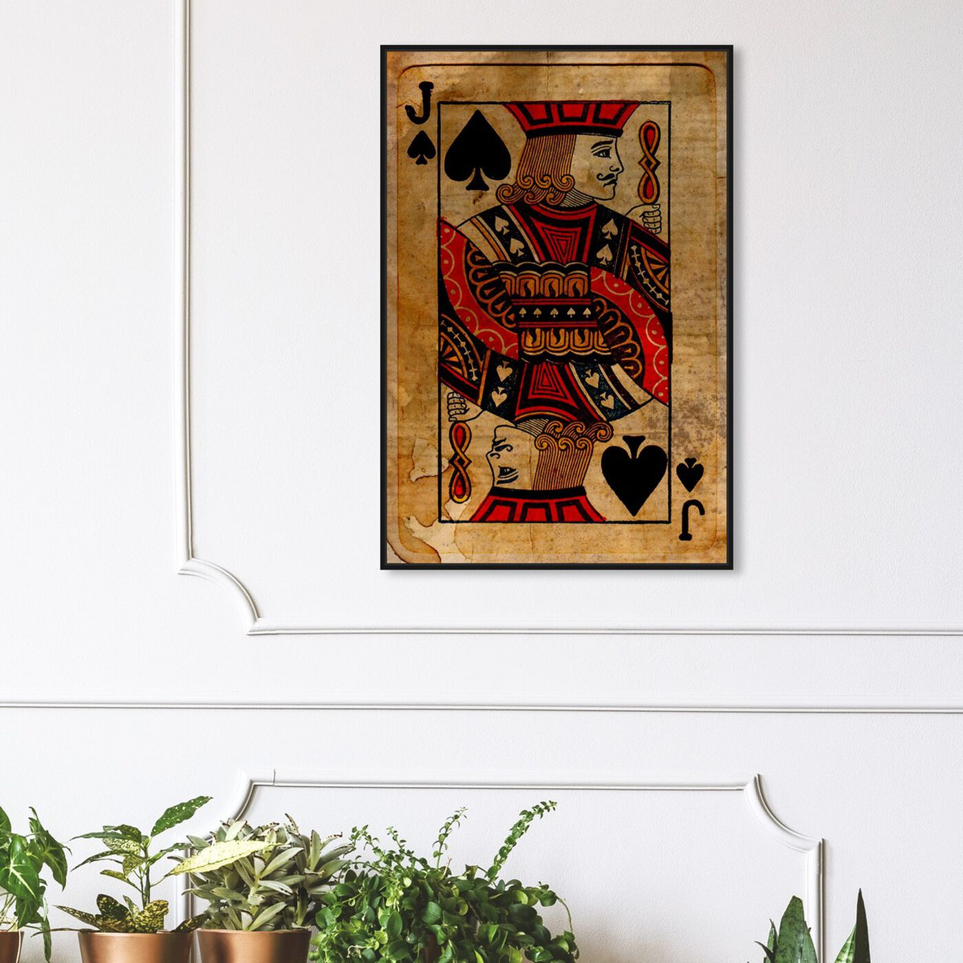 Hanging view of Jack of Spades featuring entertainment and hobbies and playing cards art.