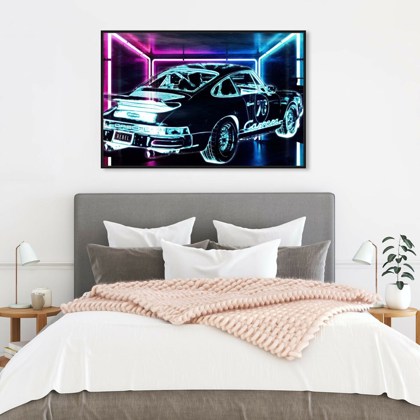 Hanging view of CyberCar art.