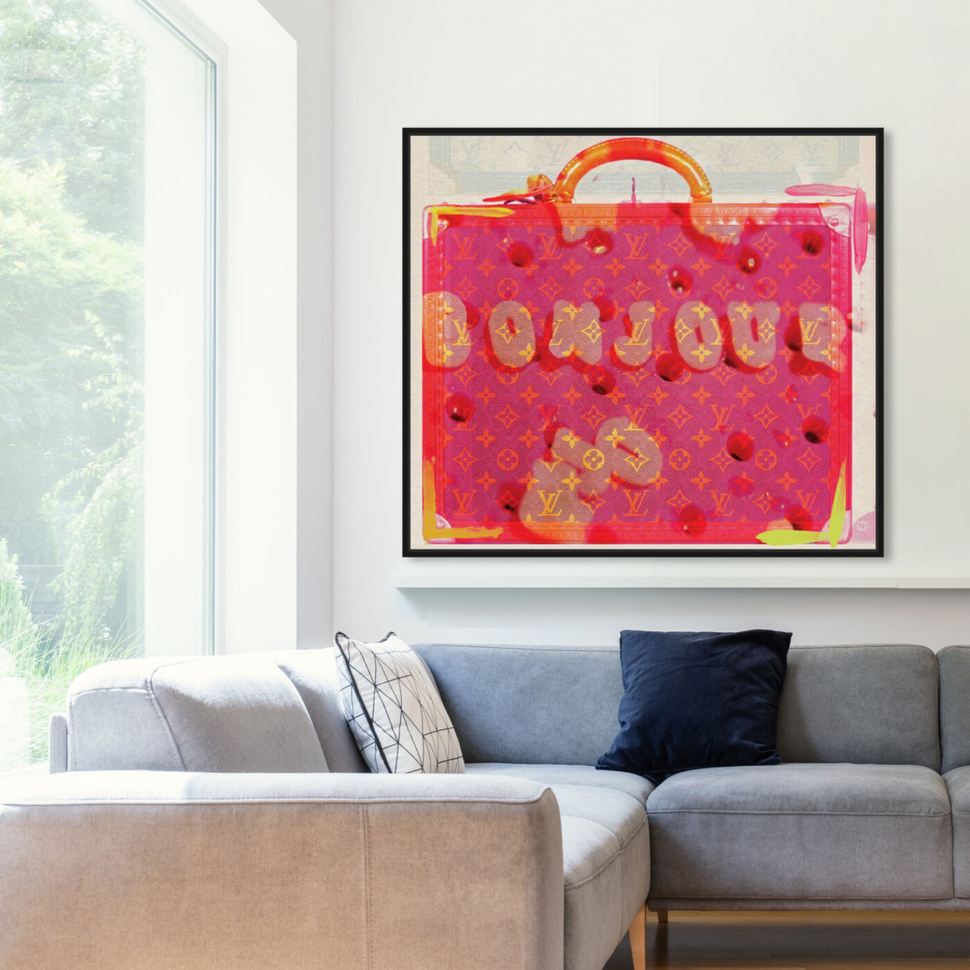 Hanging view of Bonjour featuring fashion and glam and handbags art.