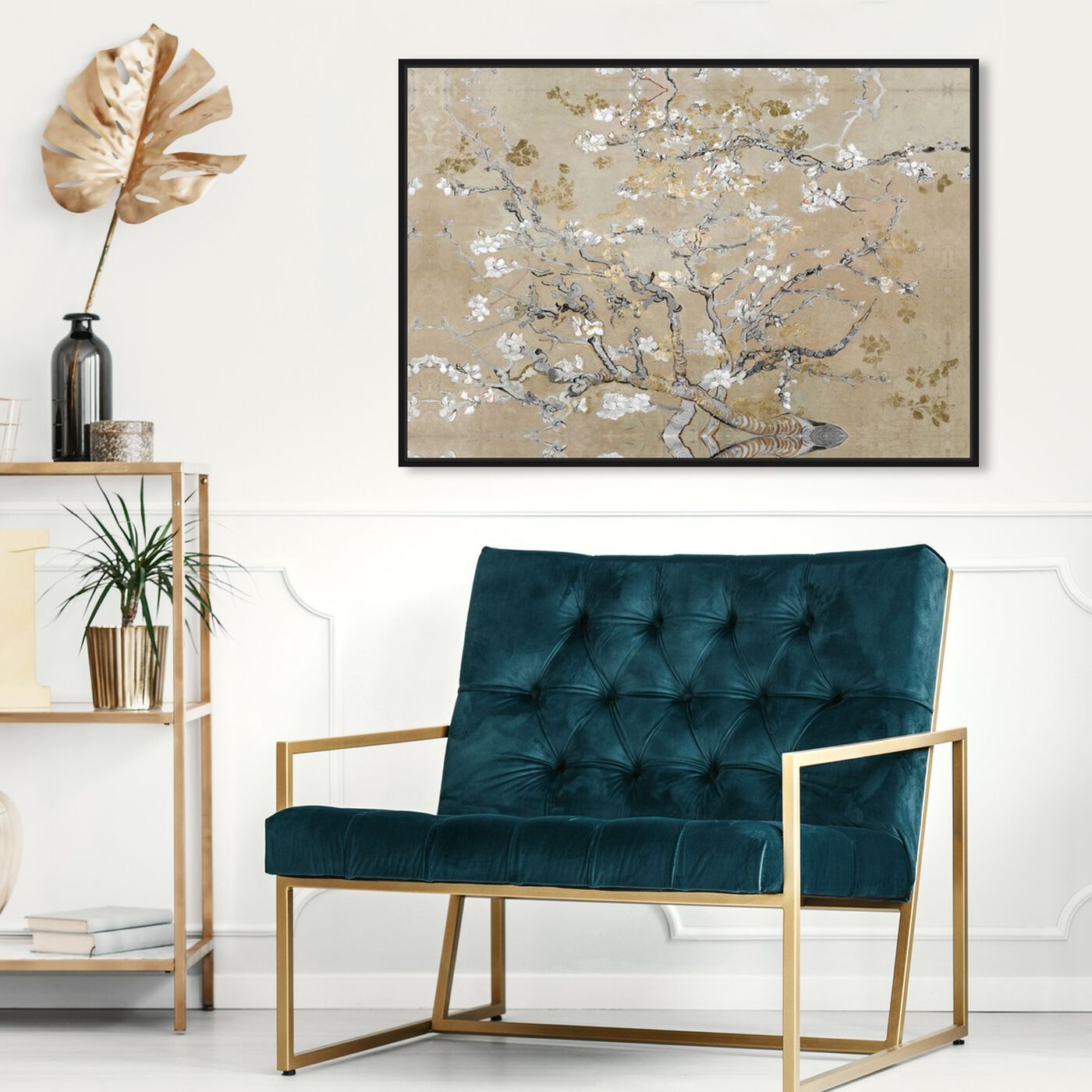 Hanging view of Van Gogh in Gold Blossoms Inspiration featuring classic and figurative and impressionism art.
