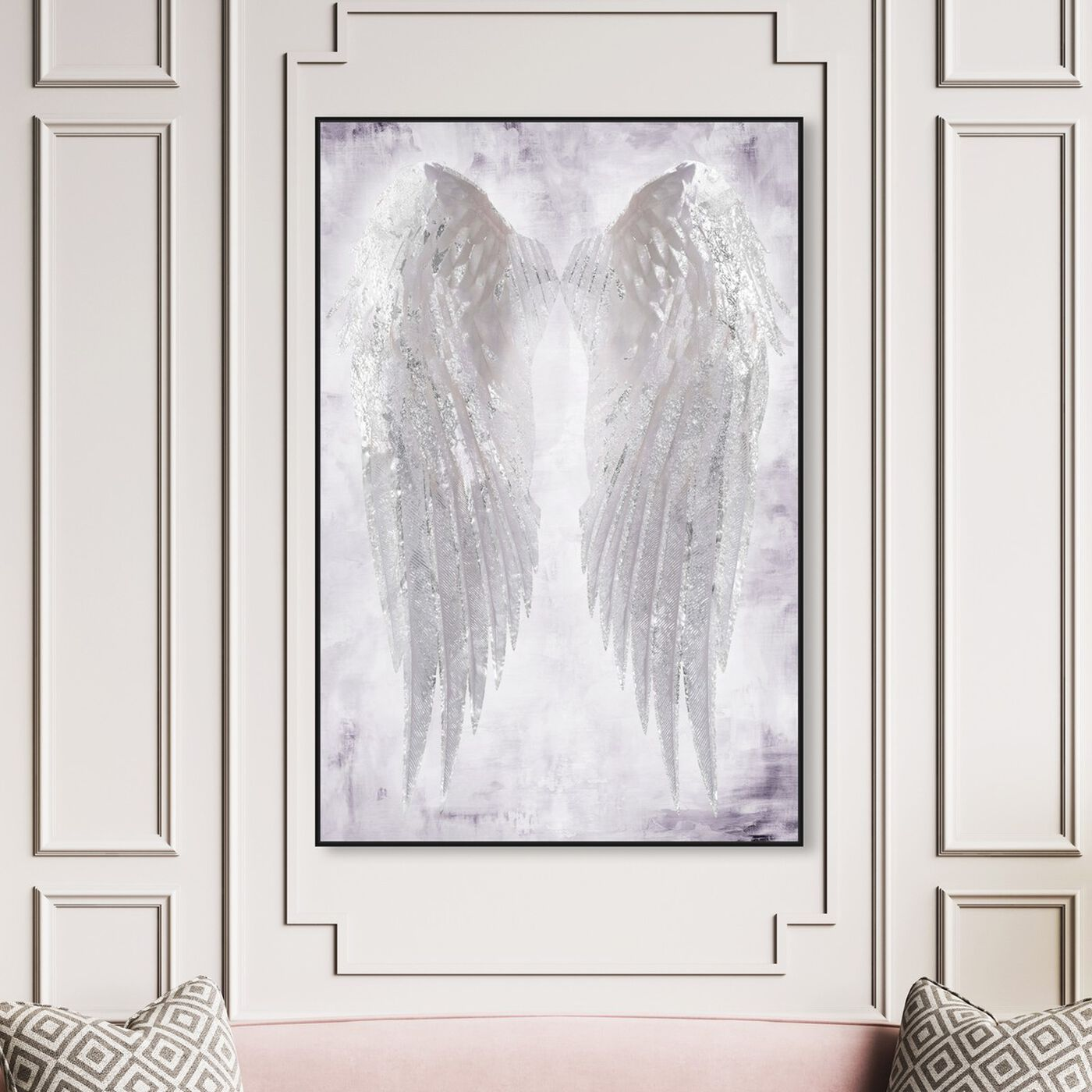 Hanging view of Wings of Angel Amethyst featuring fashion and glam and wings art.