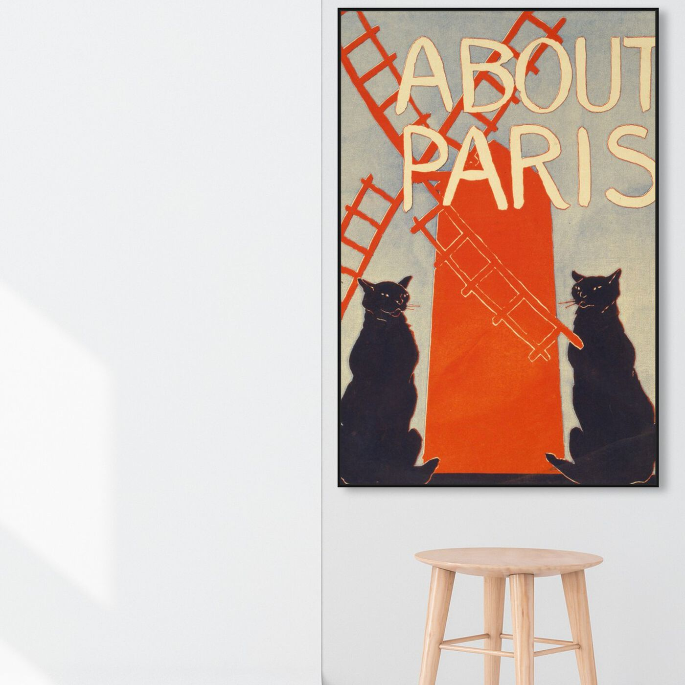 Hanging view of About Paris featuring cities and skylines and european cities art.