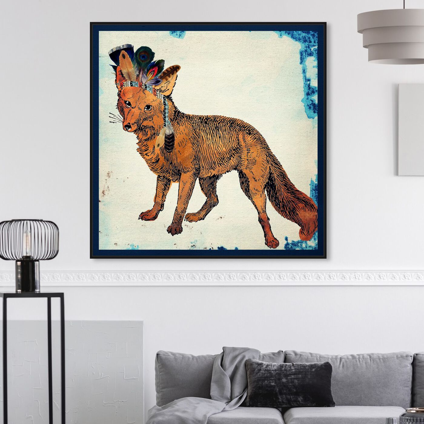 Hanging view of Wild Fox featuring animals and zoo and wild animals art.