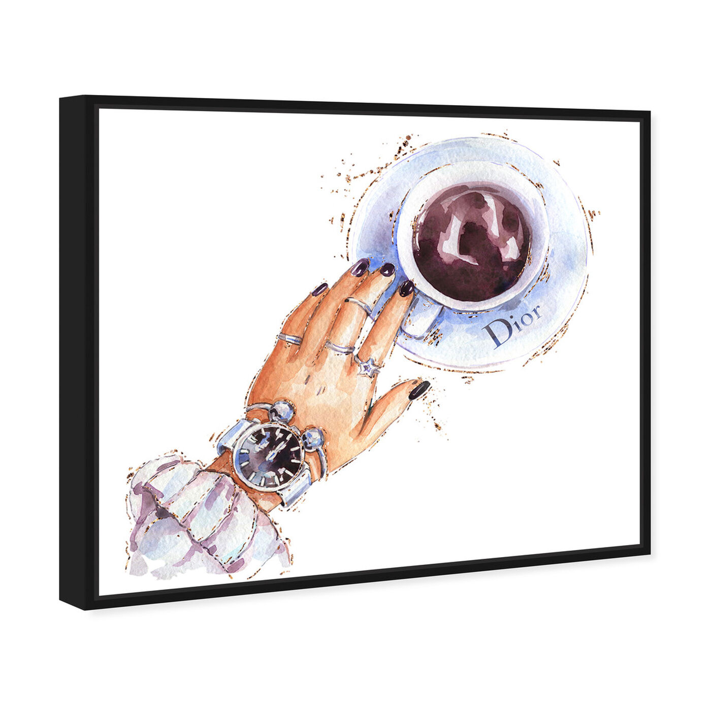 Angled view of Silver Watch and Chocolate featuring fashion and glam and accessories art.