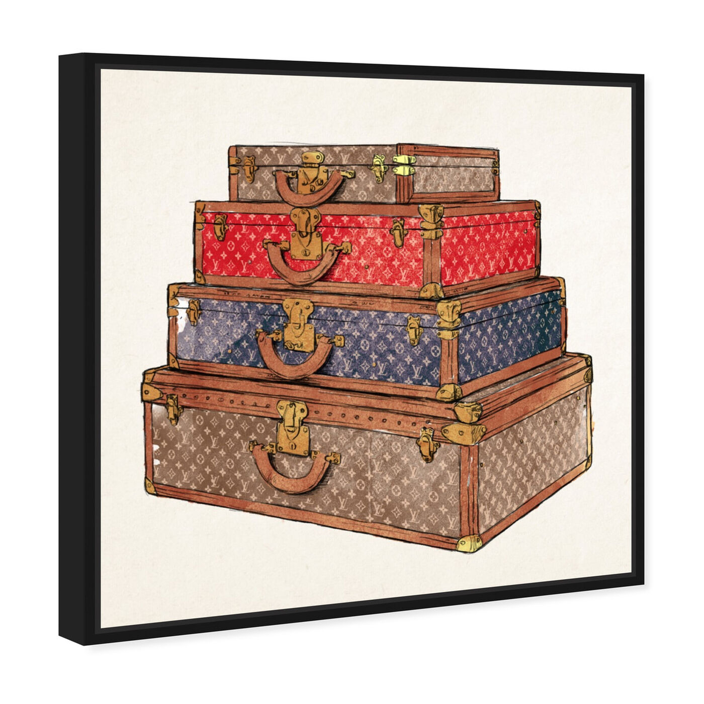 Angled view of The Royal Luggage featuring fashion and glam and travel essentials art.