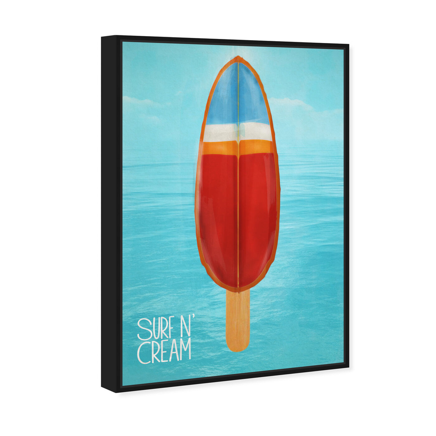 Angled view of Surf N' Cream featuring nautical and coastal and nautical sports art.