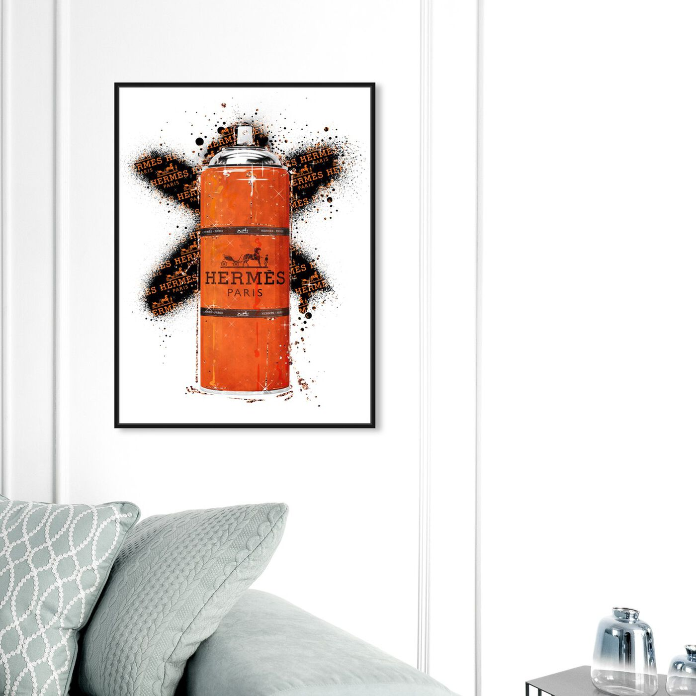 Hanging view of Fashion Orange Spray featuring fashion and glam and lifestyle art.