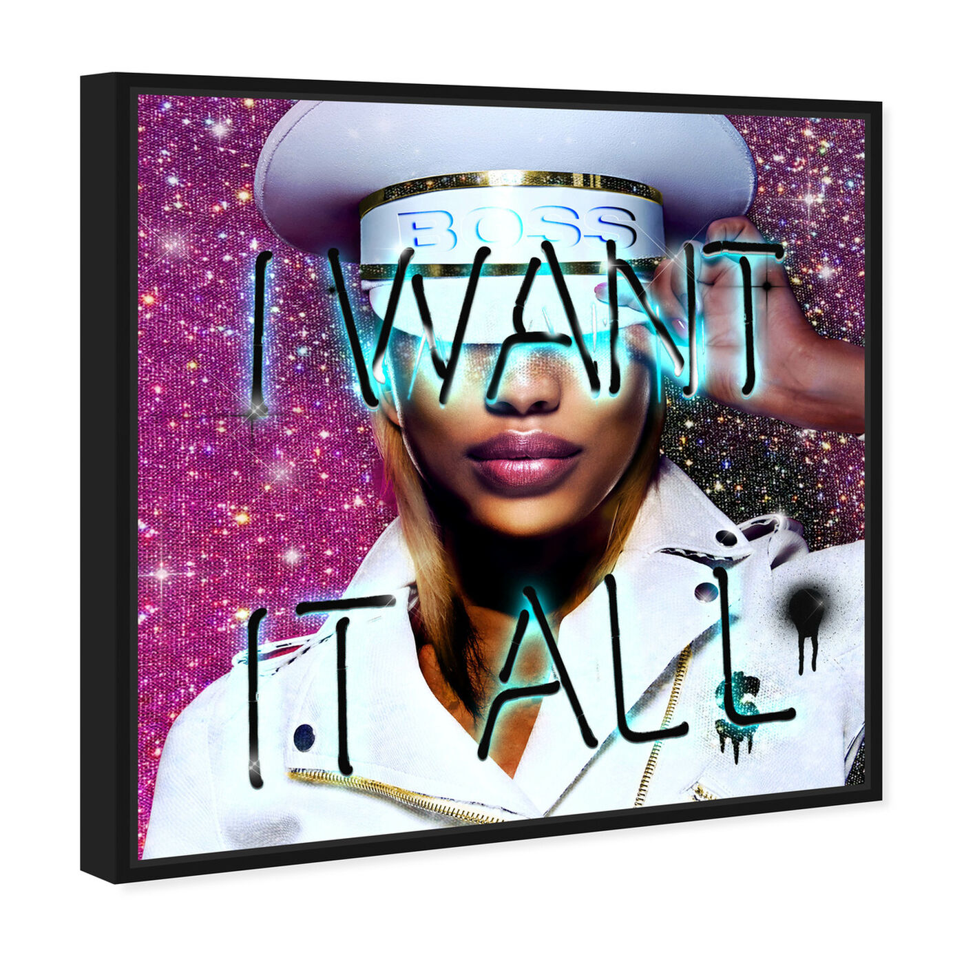 Angled view of Want It All Queen featuring fashion and glam and portraits art.