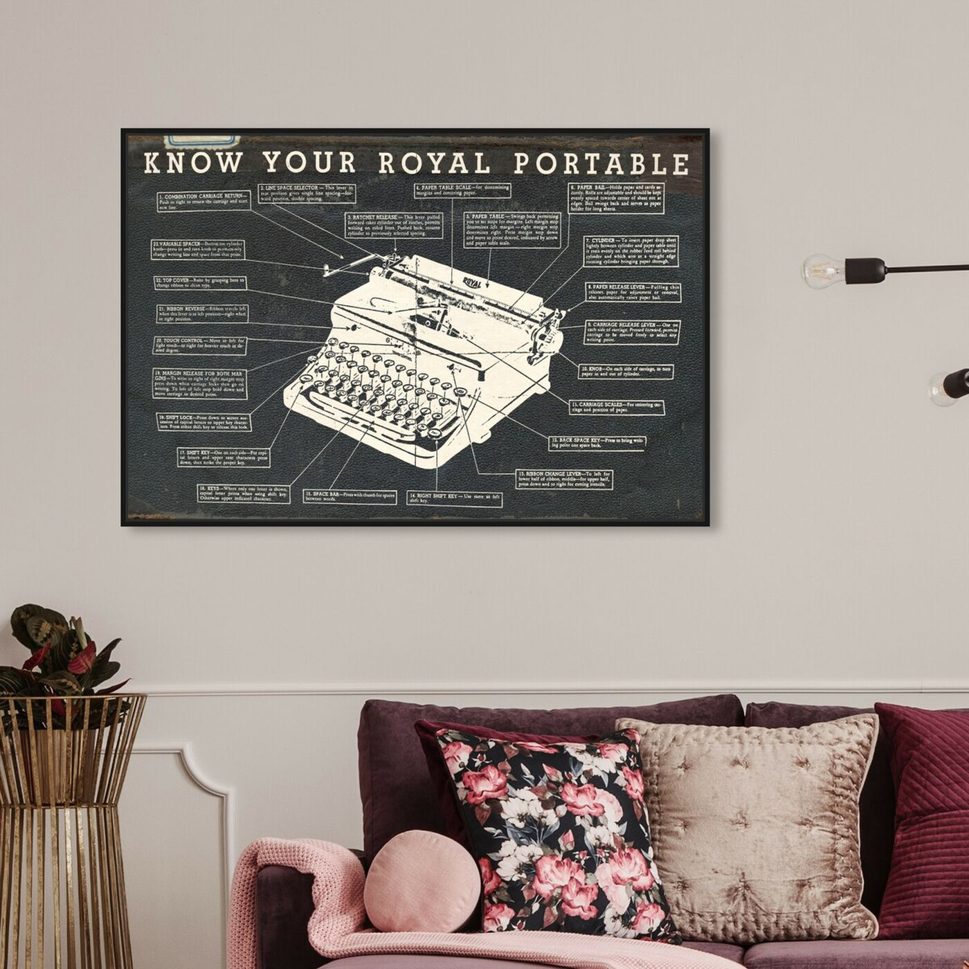 Hanging view of Royal Portable Dark featuring people and portraits and professions art.