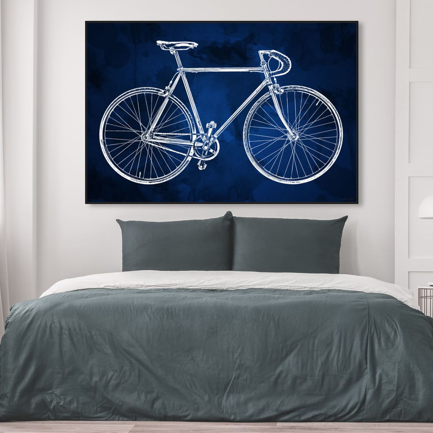 Hanging view of Fixie featuring transportation and bicycles art.