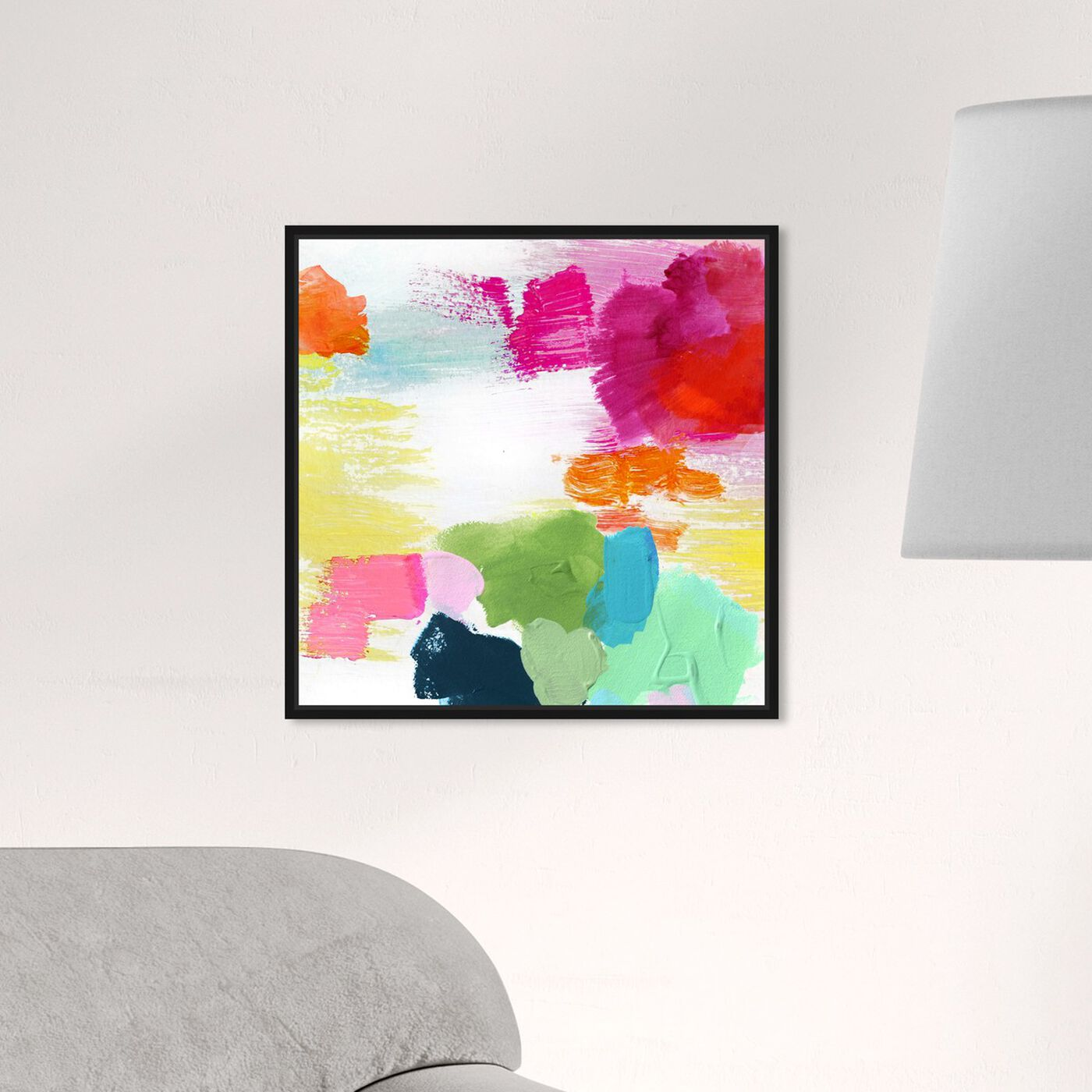 Hanging view of Full of Joy featuring abstract and paint art.