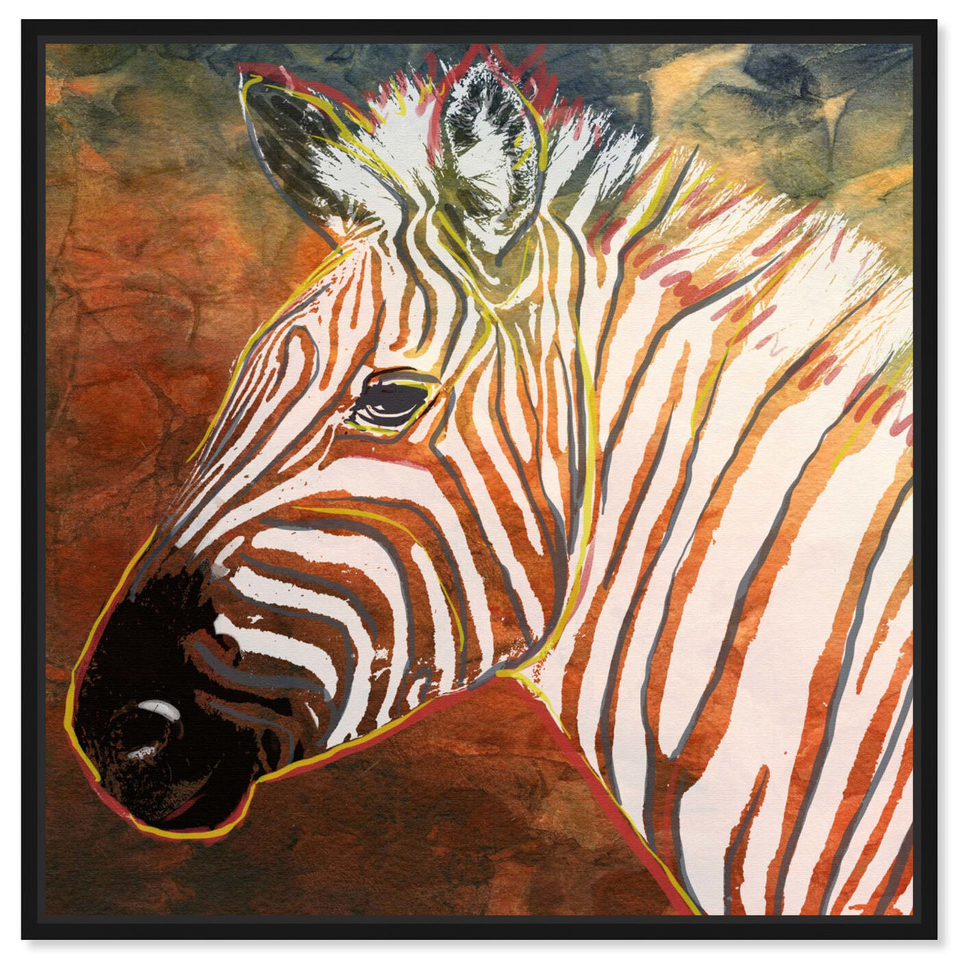 Front view of Quagga Zebra featuring animals and zoo and wild animals art.