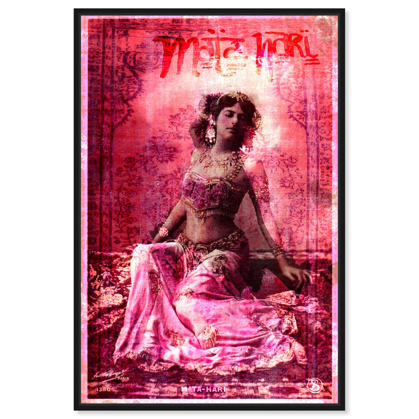 Front view of Mata Hari featuring people and portraits and celebrities art.