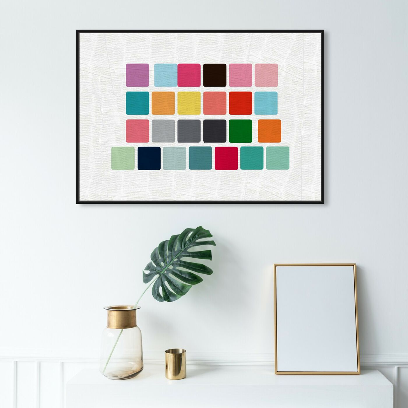 Hanging view of More Cubic featuring abstract and geometric art.