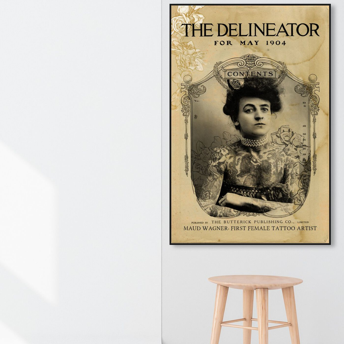 Hanging view of The Delineator featuring people and portraits and portraits art.