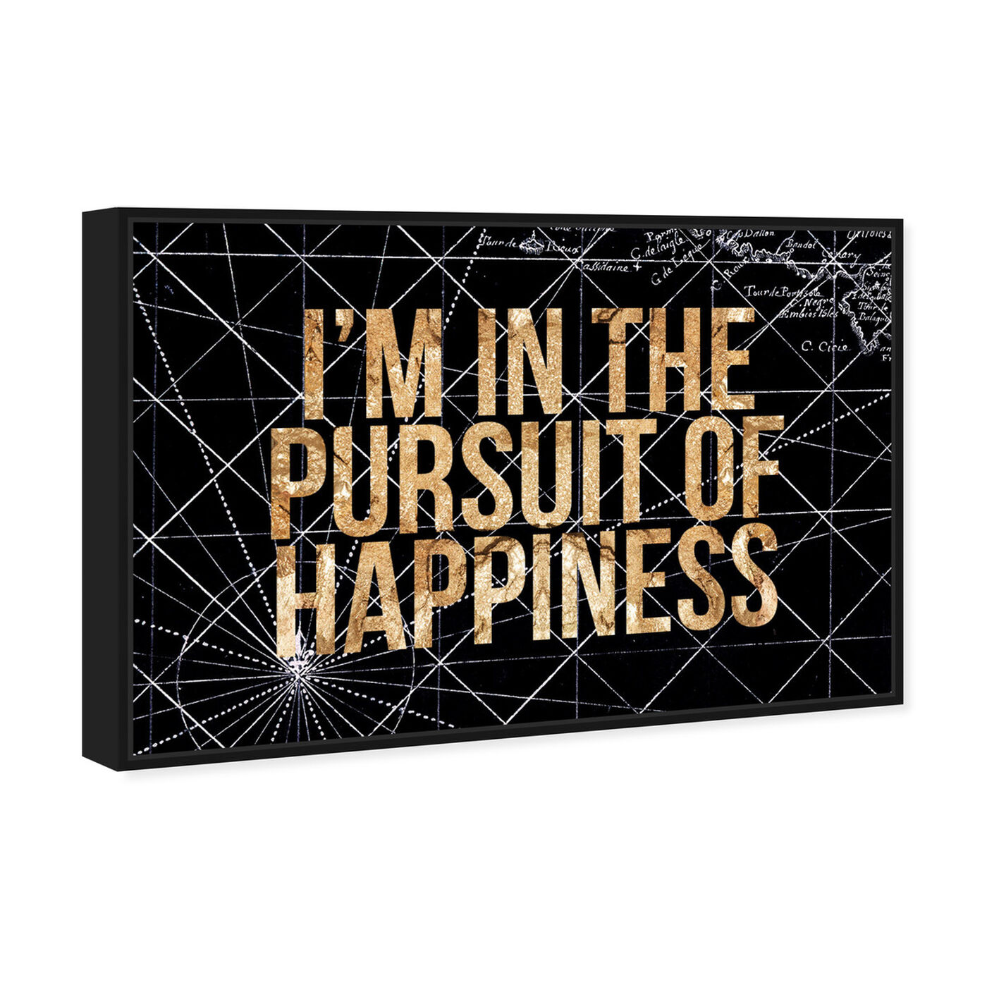 Angled view of Pursuit of Happiness Night featuring typography and quotes and inspirational quotes and sayings art.