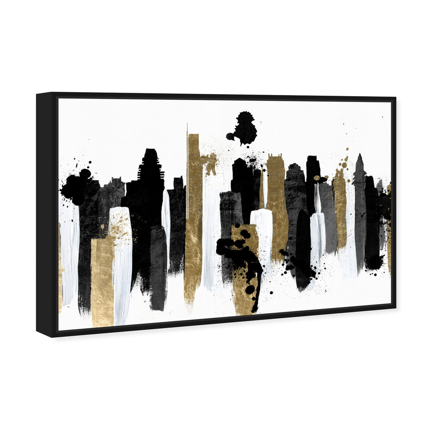 Angled view of Glamorous Boston featuring abstract and paint art.