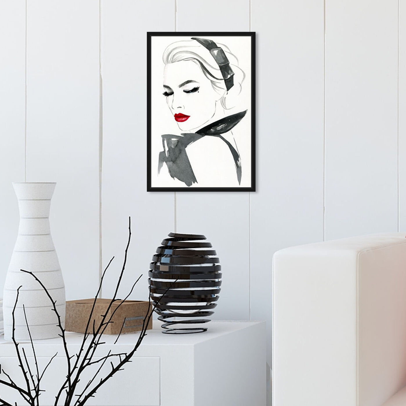 Hanging view of Modest Modern Lady featuring fashion and glam and portraits art.