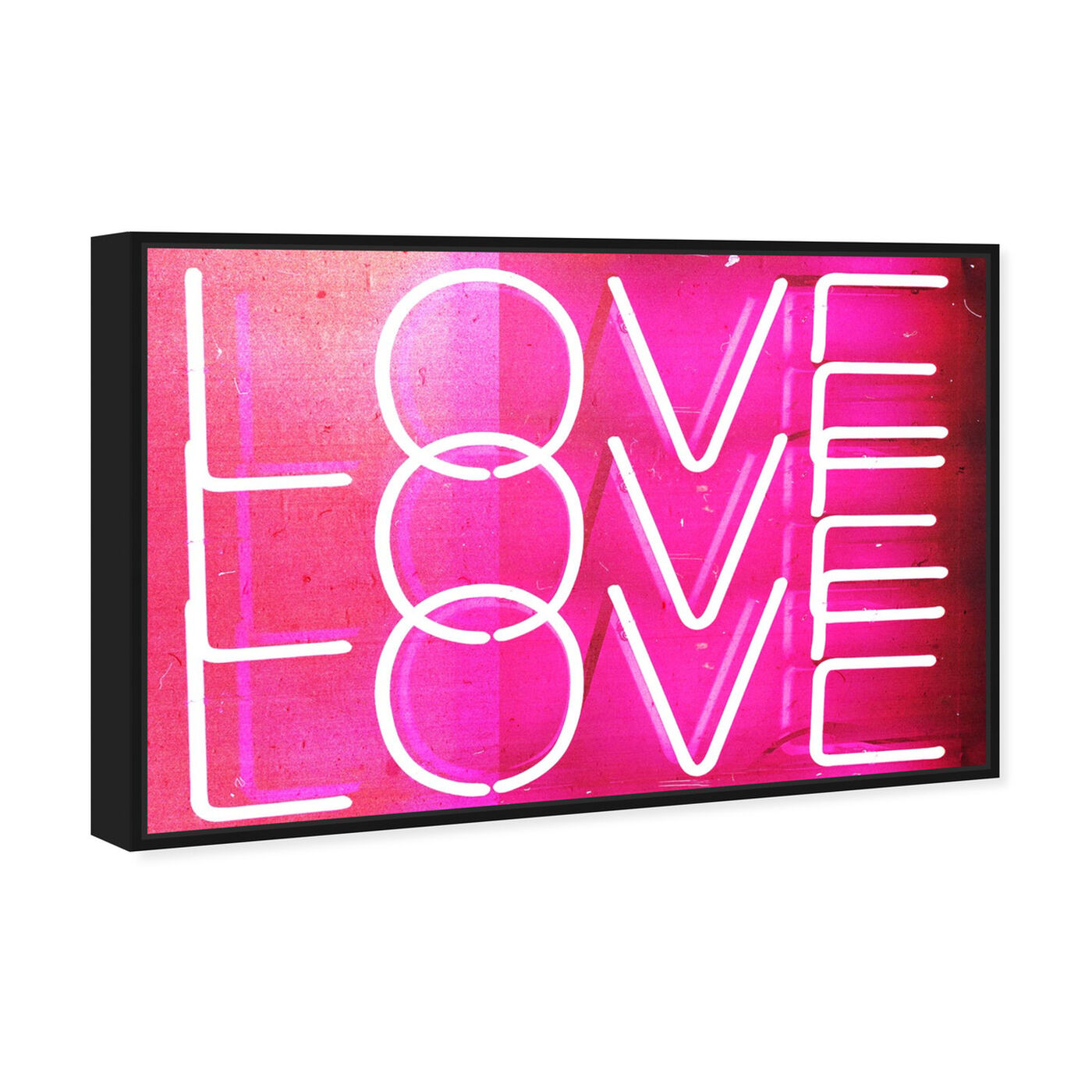 Angled view of Love Neon Lights featuring typography and quotes and love quotes and sayings art.