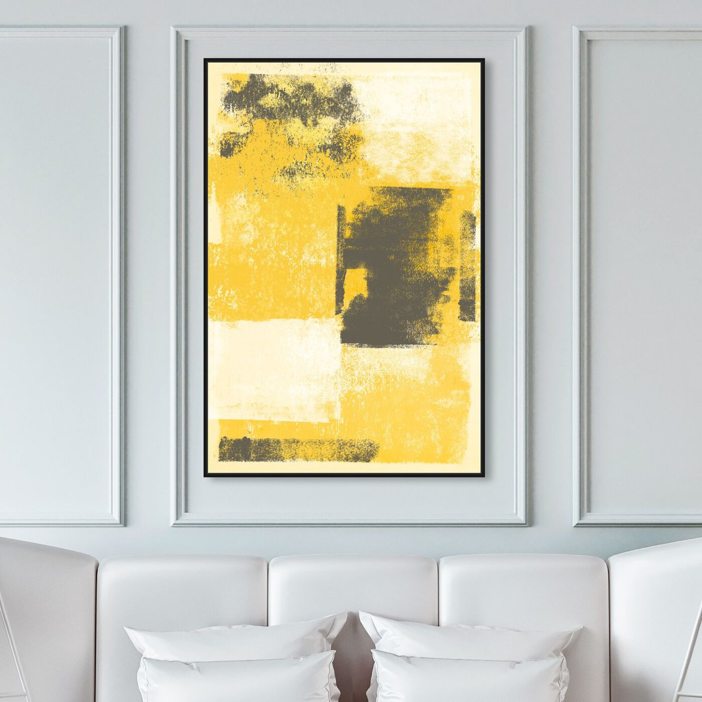Hanging view of Remixed Purity featuring abstract and paint art.