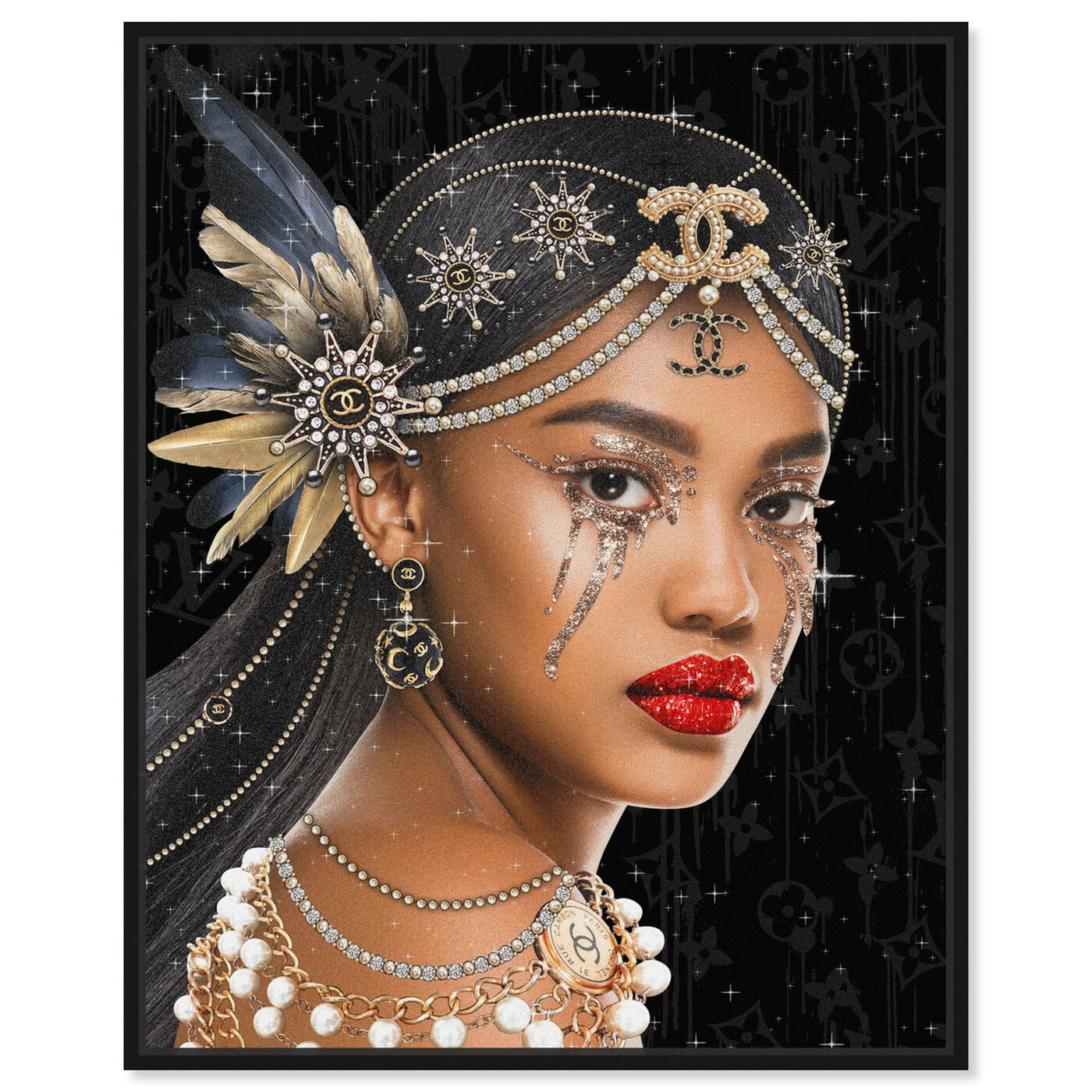 Front view of Haute Queen featuring fashion and glam and portraits art.