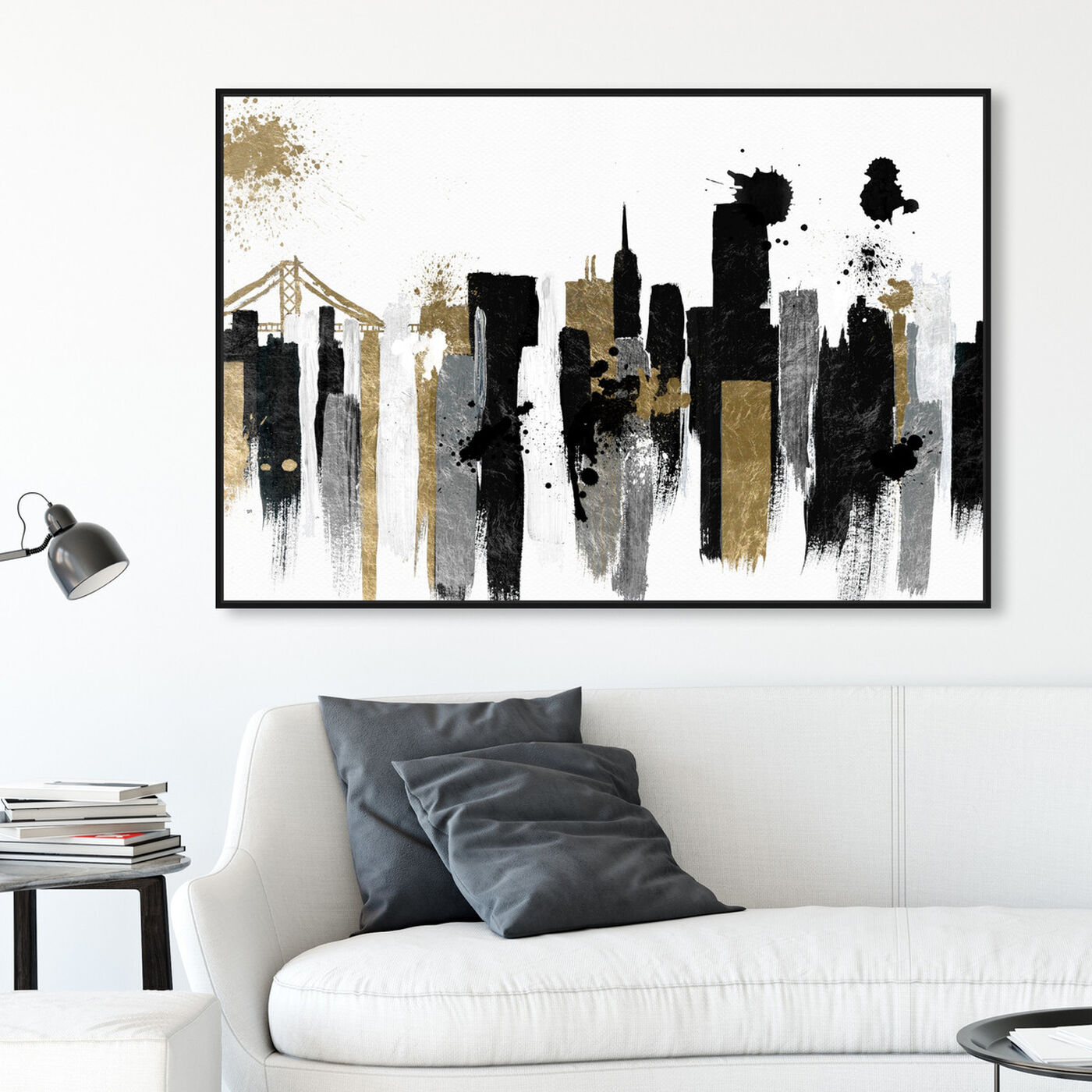 Hanging view of Glamorous San Francisco featuring cities and skylines and united states cities art.