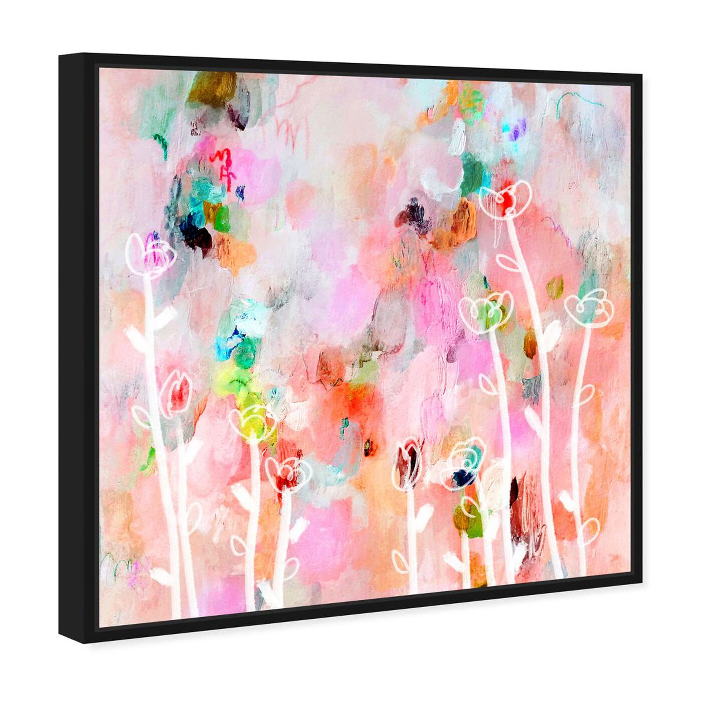 Angled view of Aurora Flowers featuring abstract and flowers art.