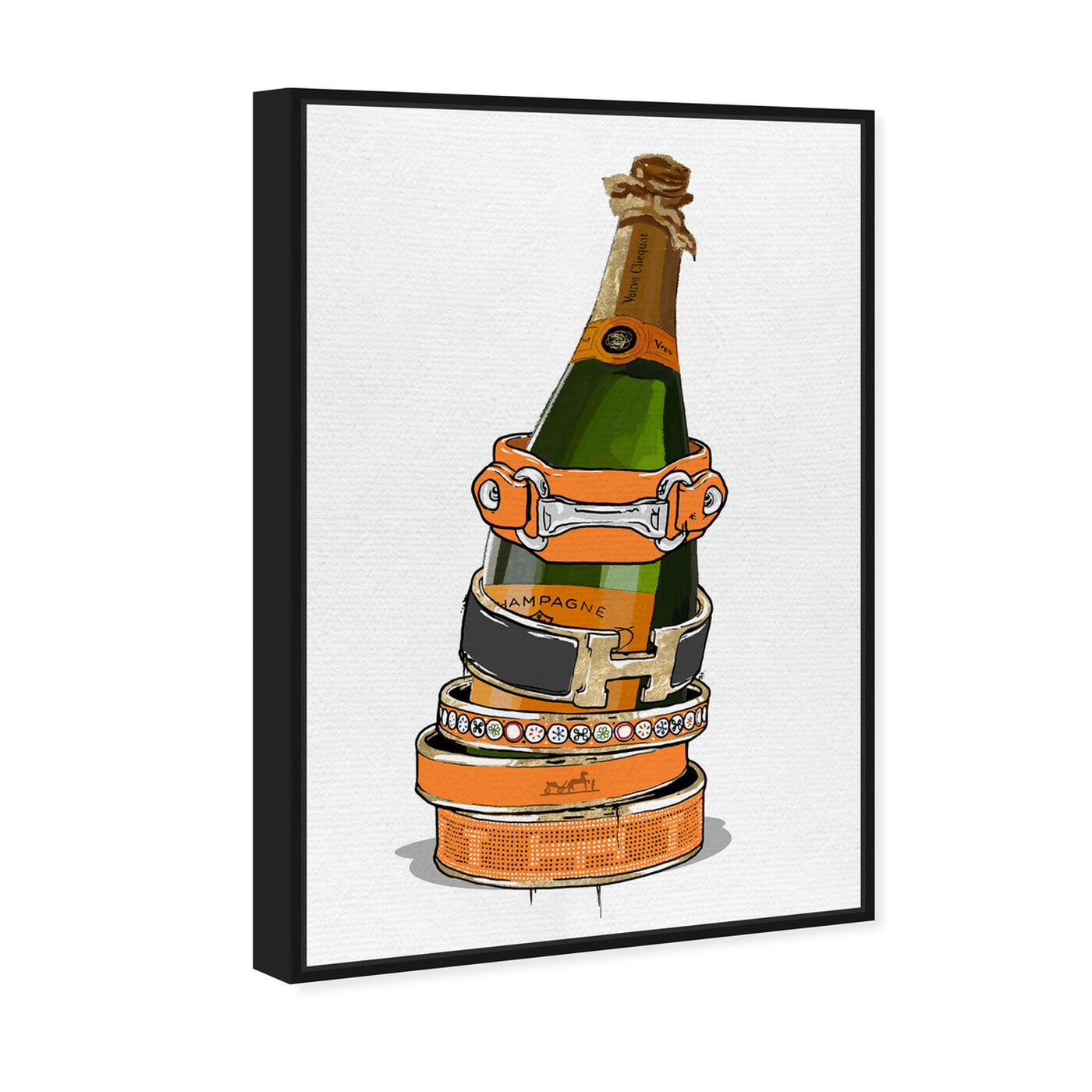Angled view of Arm Candy Champagne featuring fashion and glam and jewelry art.